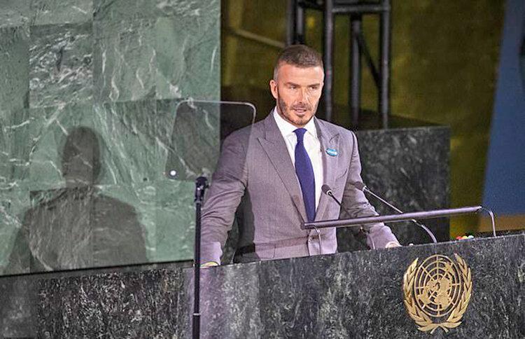 سخنرانی دیوید بکام در سازمان ملل ، به حقوق و آینده بچه ها احترام بگذاریم