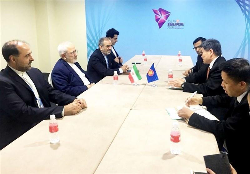 ظریف با دبیرکل اتحادیه آسه آن و وزیر خارجه استرالیا ملاقات کرد