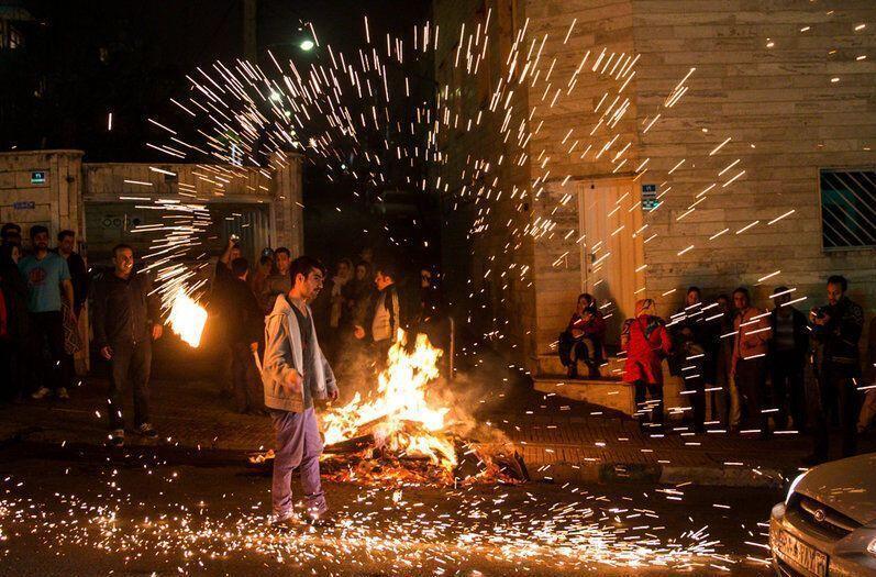 خبرنگاران آماده باش پلیس راهور البرز درچهارشنبه آخرسال