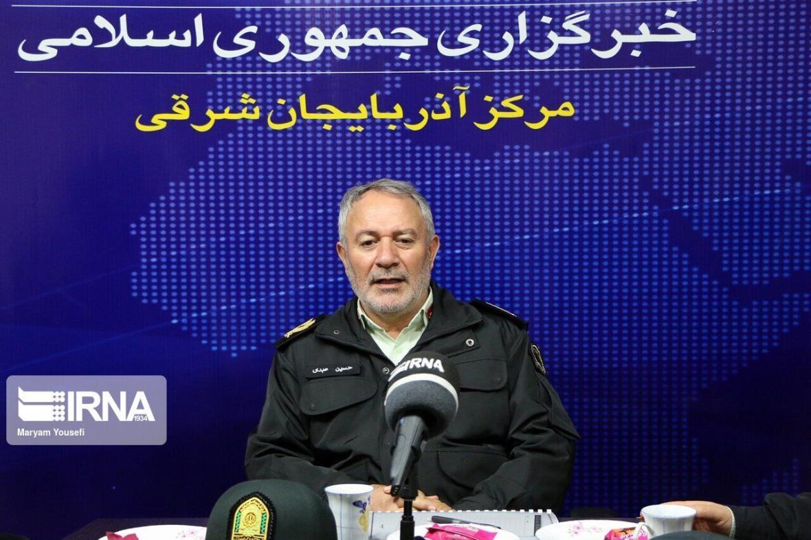 خبرنگاران همراهی پلیس آذربایجان شرقی با مدافعان سلامت در مقابله با کرونا
