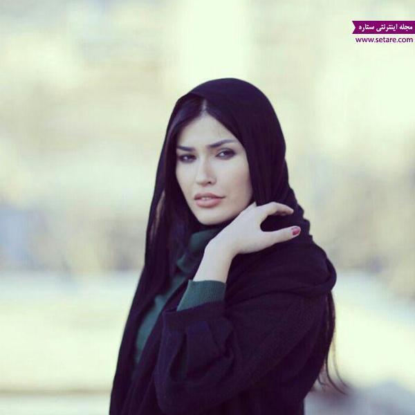 عکس شیوا طاهری با شعری از فروغ فرخزاد