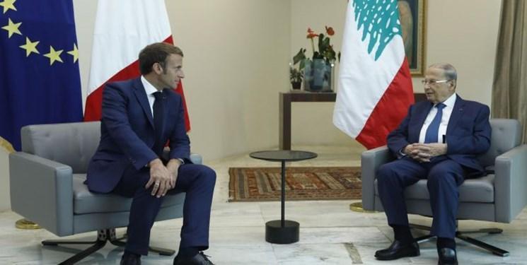 رئیس جمهور فرانسه با همتای لبنانی خود در بیروت ملاقات کرد