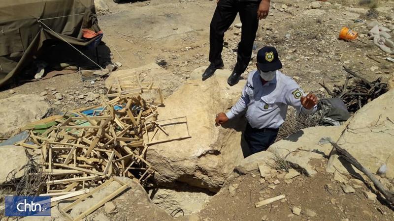 دستگیری باند حفاری در شهرستان فیروزآباد