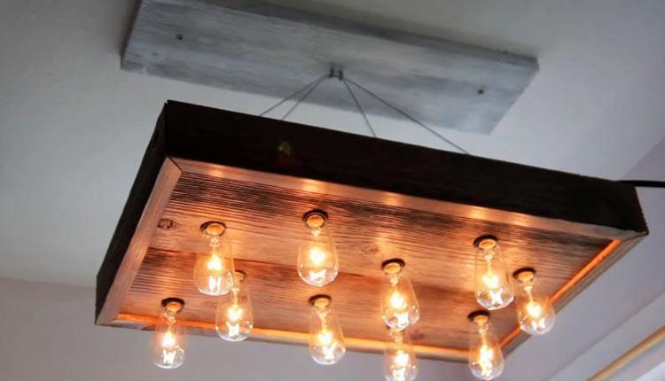 35 مدل لوستر چوبی خاص و متفاوت