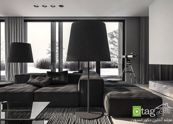 نمونه ای زیبا در استفاده از رنگ خاکستری در دکوراسیون منزل