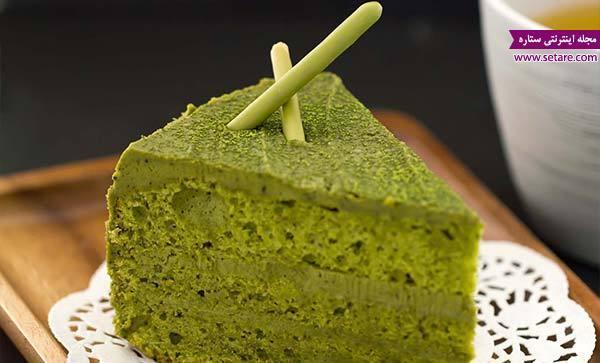 طرز تهیه کیک چای سبز صبحانه