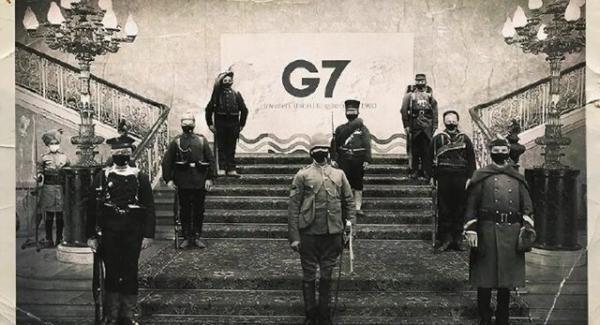 مقایسه گروه هفت با مهاجمان به چین در سال 1900