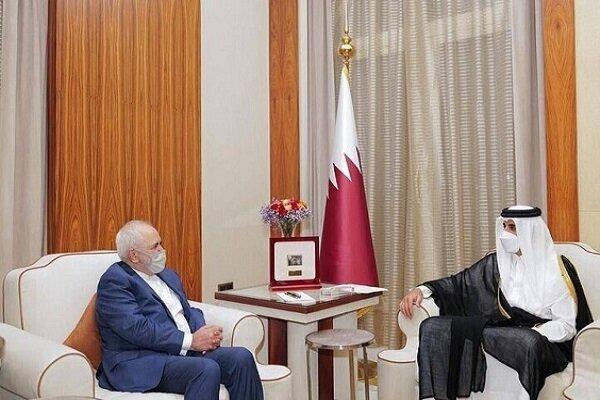 امیر قطر بر اهمیت روابط با ایران تاکید نمود