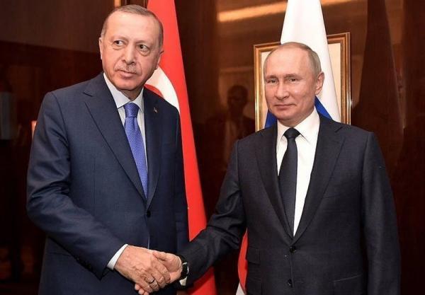 گفتگوی پوتین و اردوغان درباره موضوعات دوجانبه و منطقه ای
