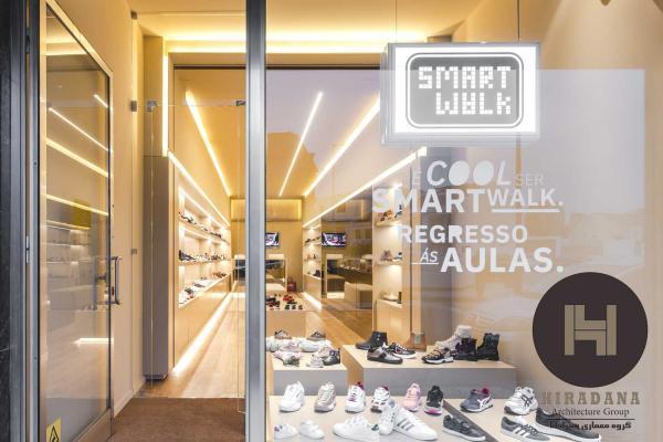 طراحی دکوراسیون لوکس فروشگاه کفش سایر مقالات